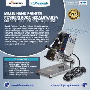 Jual Mesin Hand Printer (Pencetak Kedaluwarsa) di Medan