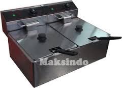 mesin deep fryer listrik 2 maksindo medan
