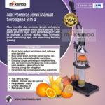 Jual Alat Pemeras Jeruk Manual Serbaguna  3 in 1 di Medan