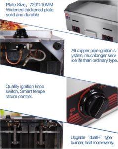 Mesin Pemanggang Gas Griddle 10 GG720