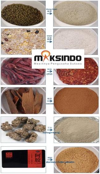 Mesin Penepung Biji-Bijian, Bumbu dan Herbal (GRAIN GRINDER)-maksindo