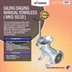 Jual Giling Daging Manual Stainless MKS-SG32 di Medan