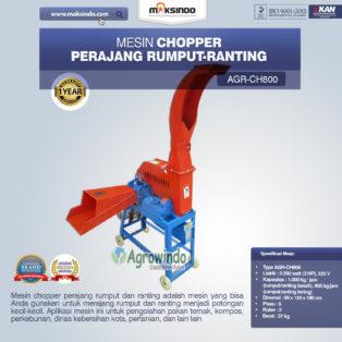 Jual Mesin Chopper Perajang Rumput-Ranting (CH800) di Medan