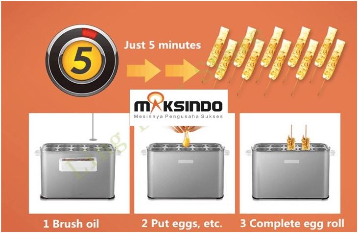 Mesin Pembuat Egg Roll (Listrik)-3