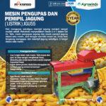 Jual Pengupas Kulit Jagung (Listrik)-JGU55 di Medan