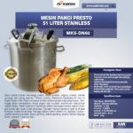 Jual Mesin Panci Presto 51 Liter Stainless (PRC50) di Medan