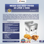 Jual Gas Deep Fryer 25 Liter 1 Tank (G75) di Medan
