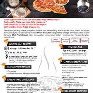 Training Usaha Pizza, 5 November 2017