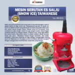 Jual Mesin Serutan Es Salju (Snow Ice) Taiwanese di Medan