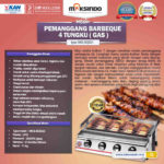 Jual Pemanggang BBQ Stainless (gas) 4 Tungku di Medan