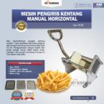 Jual Mesin Pengiris Kentang Manual Horizontal (KG-02) di Medan