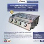 Jual Pemanggang Serbaguna Full Stainless – Gas BBQ Grill 4 Tungku di Medan