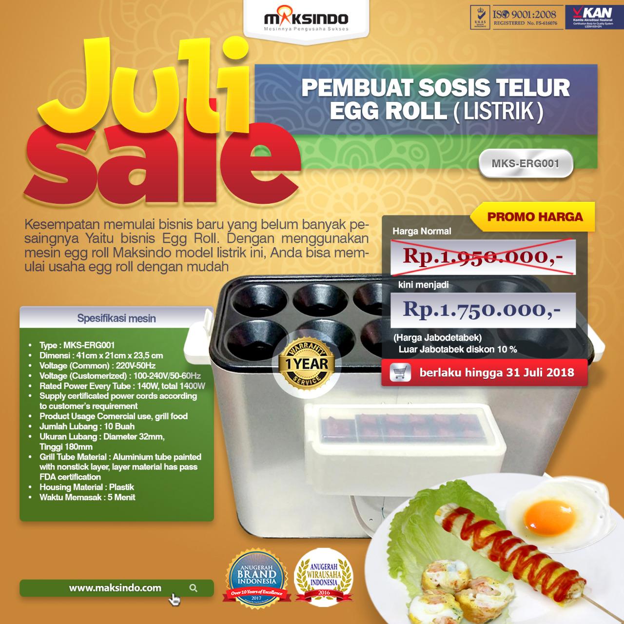 Jual Mesin Pembuat Egg Roll Listrik Mks Erg001 Di Medan Toko Alat Sosis Telur 4 Lubang Sostel Lobang