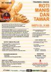 Training Usaha Roti Manis dan Tawar, 4 Agustus 2018
