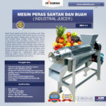 Jual Mesin Peras Santan dan Buah (Industrial Juicer) di Medan