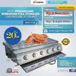 Jual Pemanggang Serbaguna Full Stainless – Gas BBQ Grill 6 Tungku di Medan