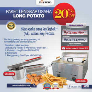 Jual Paket Mesin Long Potato Kentang Panjang di Medan