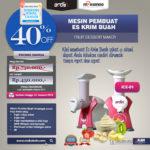 Jual Mesin Es Krim Buah Rumah Tangga ICE-01 di Medan