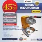 Jual Mesin Ice Crusher MKS-CRS30L di Medan