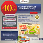 Jual Mesin Pembuat Egg Roll (Gas) MKS-ERG002 di Medan