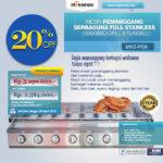 Jual Pemanggang Serbaguna Full Stainless – Gas BBQ Grill 8 Tungku di Medan
