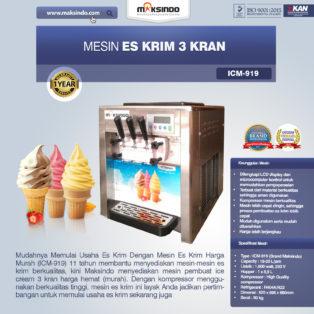 Mesin Es Krim 3 Kran ICM919