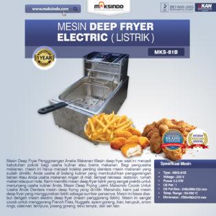 Jual Mesin Deep Fryer Listrik MKS-81B di Medan