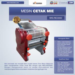 Jual Mesin Cetak Mie MKS-RED2000 di Medan