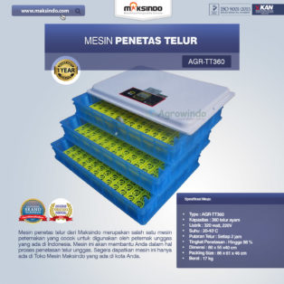 Jual Mesin Penetas Telur AGR-TT360 Di Medan
