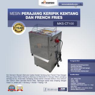 Jual Mesin Perajang Keripik Kentang dan French Fries – MKS-CT100 di Medan