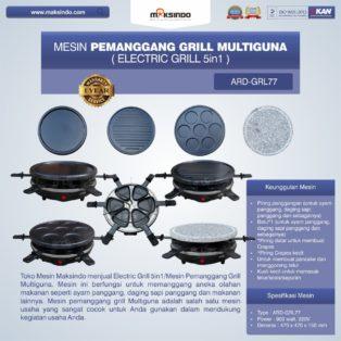 Jual Mesin Pemanggang Grill Multiguna (Electric Grill 5in1) ARD-GRL77 Di Medan