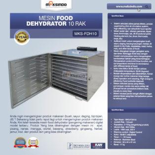 Jual Mesin Food Dehydrator 10 Rak (FDH10) di Medan