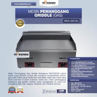Jual Mesin Pemanggang Griddle (Gas) – MKS-GG720 di Medan