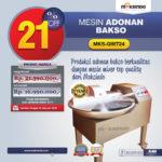 Jual Mesin Adonan Bakso (Fine Cutter) MKS-QW724 di Medan