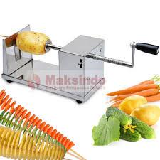 mesin kentang spiral maksindo medan